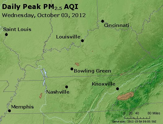 Peak Particles PM<sub>2.5</sub> (24-hour) - http://files.airnowtech.org/airnow/2012/20121003/peak_pm25_ky_tn.jpg