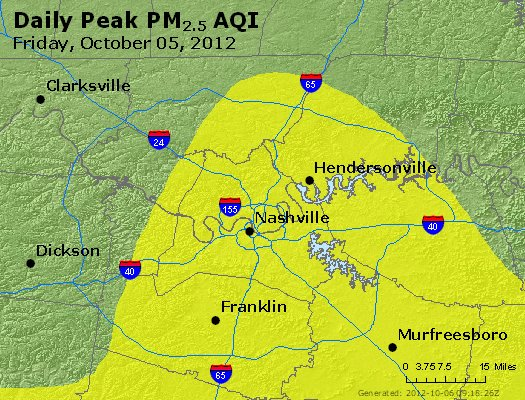 Peak Particles PM<sub>2.5</sub> (24-hour) - http://files.airnowtech.org/airnow/2012/20121005/peak_pm25_nashville_tn.jpg