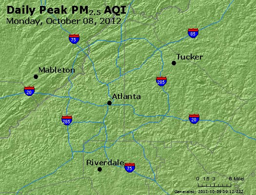 Peak Particles PM<sub>2.5</sub> (24-hour) - http://files.airnowtech.org/airnow/2012/20121008/peak_pm25_atlanta_ga.jpg