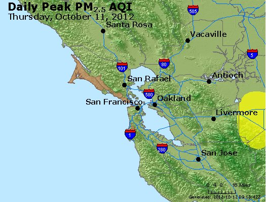 Peak Particles PM<sub>2.5</sub> (24-hour) - http://files.airnowtech.org/airnow/2012/20121011/peak_pm25_sanfrancisco_ca.jpg
