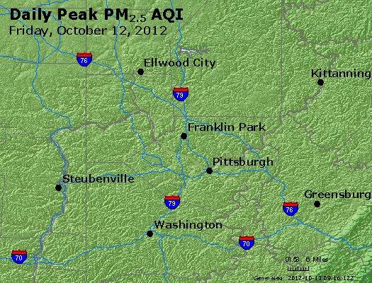 Peak Particles PM<sub>2.5</sub> (24-hour) - http://files.airnowtech.org/airnow/2012/20121012/peak_pm25_pittsburgh_pa.jpg