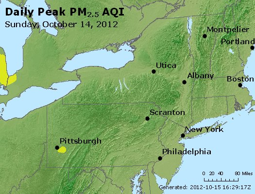 Peak Particles PM<sub>2.5</sub> (24-hour) - http://files.airnowtech.org/airnow/2012/20121014/peak_pm25_ny_pa_nj.jpg