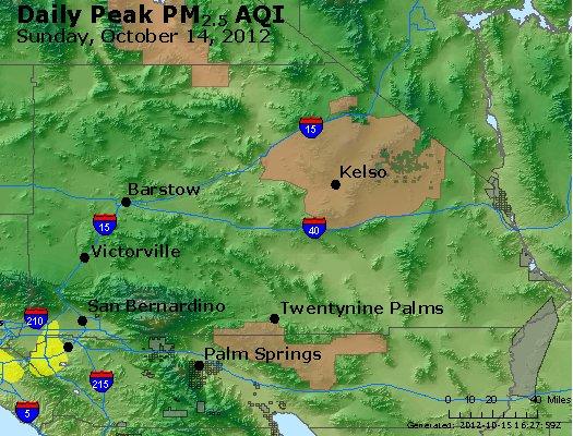 Peak Particles PM<sub>2.5</sub> (24-hour) - http://files.airnowtech.org/airnow/2012/20121014/peak_pm25_sanbernardino_ca.jpg