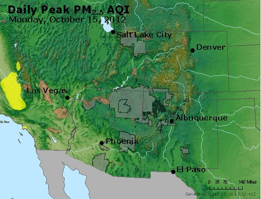 Peak Particles PM<sub>2.5</sub> (24-hour) - http://files.airnowtech.org/airnow/2012/20121015/peak_pm25_co_ut_az_nm.jpg