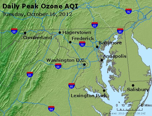 Peak Ozone (8-hour) - http://files.airnowtech.org/airnow/2012/20121016/peak_o3_maryland.jpg