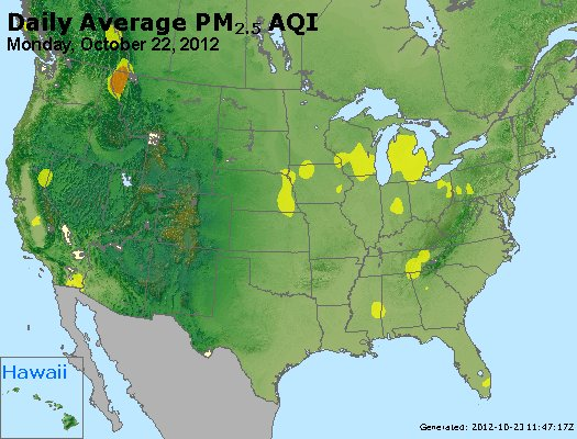 Peak Particles PM<sub>2.5</sub> (24-hour) - http://files.airnowtech.org/airnow/2012/20121022/peak_pm25_usa.jpg