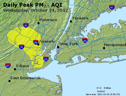 Peak Particles PM<sub>2.5</sub> (24-hour) - http://files.airnowtech.org/airnow/2012/20121024/peak_pm25_newyork_ny.jpg