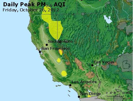 Peak Particles PM<sub>2.5</sub> (24-hour) - http://files.airnowtech.org/airnow/2012/20121026/peak_pm25_ca_nv.jpg