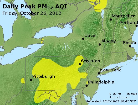 Peak Particles PM<sub>2.5</sub> (24-hour) - http://files.airnowtech.org/airnow/2012/20121026/peak_pm25_ny_pa_nj.jpg