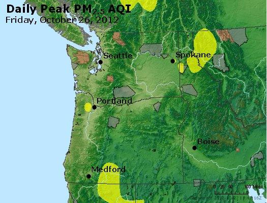 Peak Particles PM<sub>2.5</sub> (24-hour) - http://files.airnowtech.org/airnow/2012/20121026/peak_pm25_wa_or.jpg