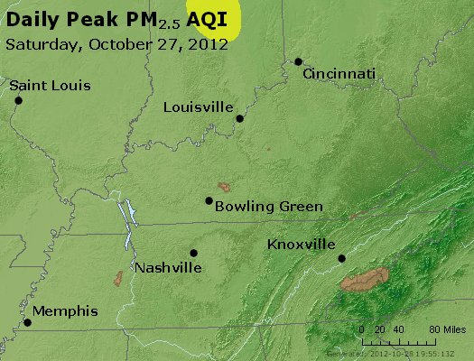 Peak Particles PM<sub>2.5</sub> (24-hour) - http://files.airnowtech.org/airnow/2012/20121027/peak_pm25_ky_tn.jpg