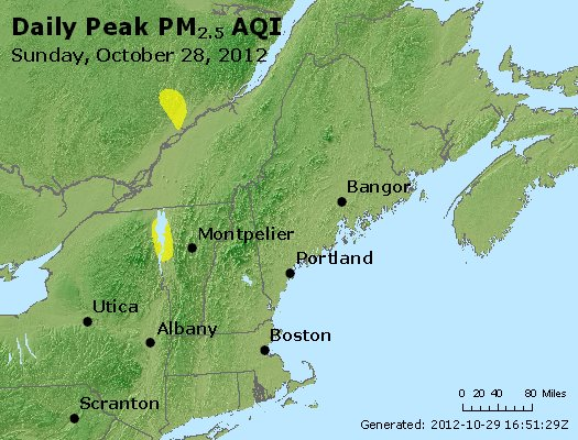 Peak Particles PM<sub>2.5</sub> (24-hour) - http://files.airnowtech.org/airnow/2012/20121028/peak_pm25_vt_nh_ma_ct_ri_me.jpg