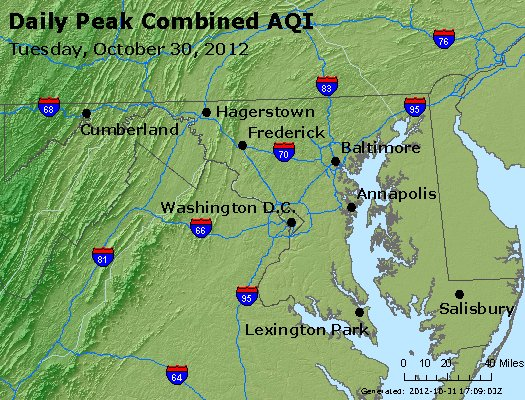 Peak AQI - http://files.airnowtech.org/airnow/2012/20121030/peak_aqi_maryland.jpg