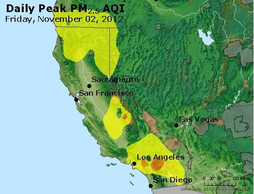 Peak Particles PM<sub>2.5</sub> (24-hour) - http://files.airnowtech.org/airnow/2012/20121102/peak_pm25_ca_nv.jpg