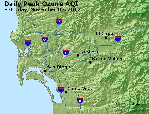 Peak Ozone (8-hour) - http://files.airnowtech.org/airnow/2012/20121103/peak_o3_sandiego_ca.jpg