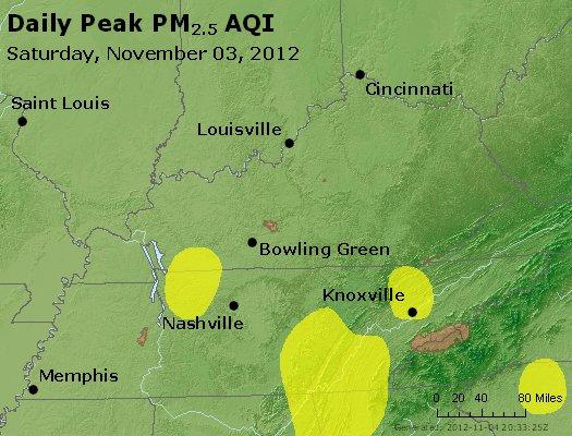Peak Particles PM<sub>2.5</sub> (24-hour) - http://files.airnowtech.org/airnow/2012/20121103/peak_pm25_ky_tn.jpg