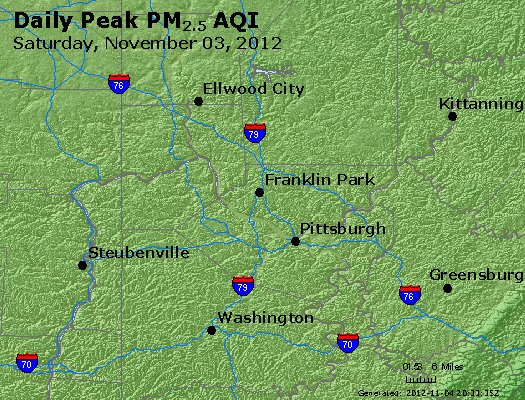 Peak Particles PM<sub>2.5</sub> (24-hour) - http://files.airnowtech.org/airnow/2012/20121103/peak_pm25_pittsburgh_pa.jpg