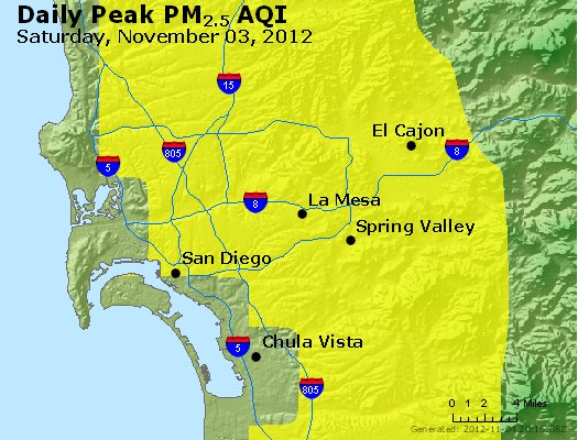 Peak Particles PM<sub>2.5</sub> (24-hour) - http://files.airnowtech.org/airnow/2012/20121103/peak_pm25_sandiego_ca.jpg
