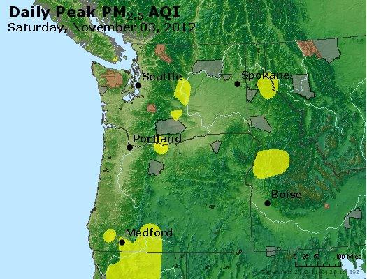 Peak Particles PM<sub>2.5</sub> (24-hour) - http://files.airnowtech.org/airnow/2012/20121103/peak_pm25_wa_or.jpg