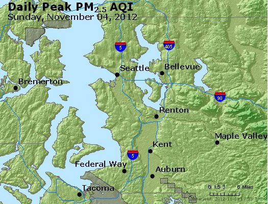Peak Particles PM<sub>2.5</sub> (24-hour) - http://files.airnowtech.org/airnow/2012/20121104/peak_pm25_seattle_wa.jpg