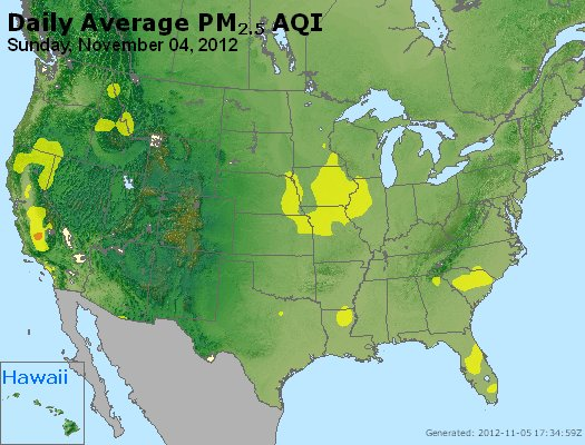 Peak Particles PM<sub>2.5</sub> (24-hour) - http://files.airnowtech.org/airnow/2012/20121104/peak_pm25_usa.jpg