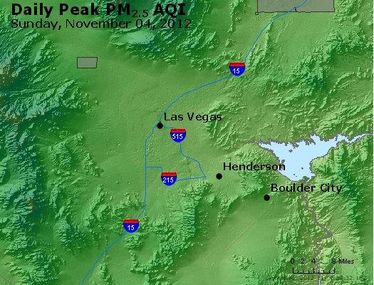 Peak Particles PM<sub>2.5</sub> (24-hour) - http://files.airnowtech.org/airnow/2012/20121105/peak_pm25_lasvegas_nv.jpg