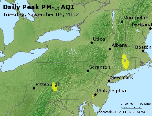 Peak Particles PM<sub>2.5</sub> (24-hour) - http://files.airnowtech.org/airnow/2012/20121106/peak_pm25_ny_pa_nj.jpg
