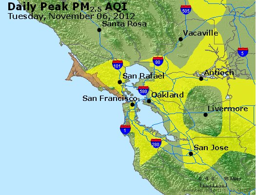 Peak Particles PM<sub>2.5</sub> (24-hour) - http://files.airnowtech.org/airnow/2012/20121106/peak_pm25_sanfrancisco_ca.jpg