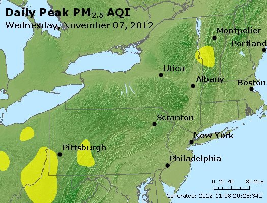 Peak Particles PM<sub>2.5</sub> (24-hour) - http://files.airnowtech.org/airnow/2012/20121107/peak_pm25_ny_pa_nj.jpg