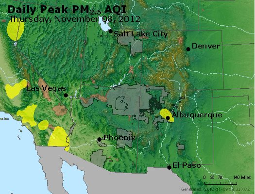Peak Particles PM<sub>2.5</sub> (24-hour) - http://files.airnowtech.org/airnow/2012/20121108/peak_pm25_co_ut_az_nm.jpg