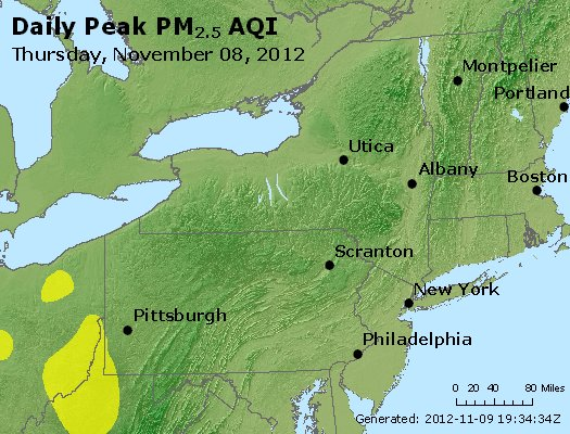 Peak Particles PM<sub>2.5</sub> (24-hour) - http://files.airnowtech.org/airnow/2012/20121108/peak_pm25_ny_pa_nj.jpg
