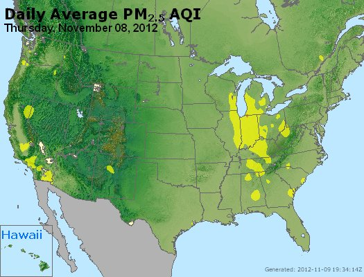 Peak Particles PM<sub>2.5</sub> (24-hour) - http://files.airnowtech.org/airnow/2012/20121108/peak_pm25_usa.jpg