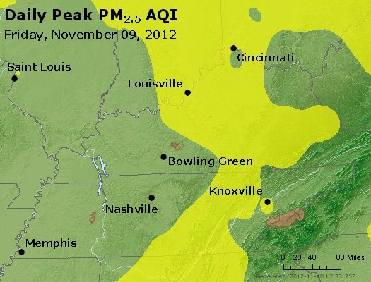 Peak Particles PM<sub>2.5</sub> (24-hour) - http://files.airnowtech.org/airnow/2012/20121109/peak_pm25_ky_tn.jpg