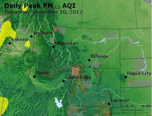 Peak Particles PM<sub>2.5</sub> (24-hour) - http://files.airnowtech.org/airnow/2012/20121110/peak_pm25_mt_id_wy.jpg