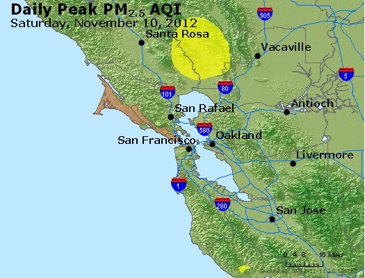 Peak Particles PM<sub>2.5</sub> (24-hour) - http://files.airnowtech.org/airnow/2012/20121110/peak_pm25_sanfrancisco_ca.jpg