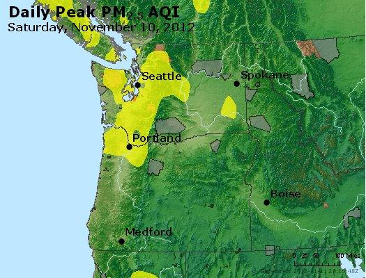 Peak Particles PM<sub>2.5</sub> (24-hour) - http://files.airnowtech.org/airnow/2012/20121110/peak_pm25_wa_or.jpg