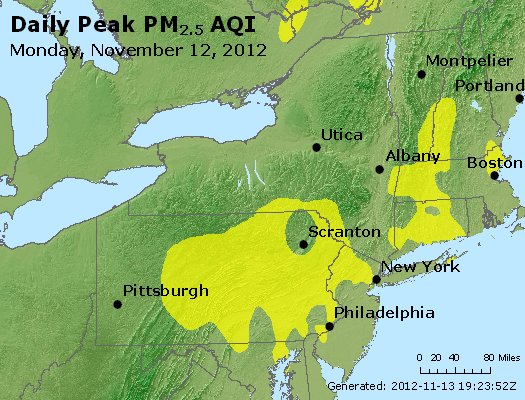 Peak Particles PM<sub>2.5</sub> (24-hour) - http://files.airnowtech.org/airnow/2012/20121112/peak_pm25_ny_pa_nj.jpg