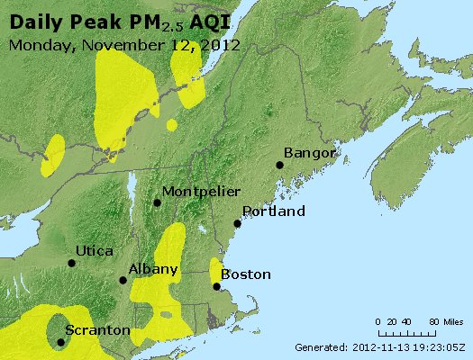 Peak Particles PM<sub>2.5</sub> (24-hour) - http://files.airnowtech.org/airnow/2012/20121112/peak_pm25_vt_nh_ma_ct_ri_me.jpg