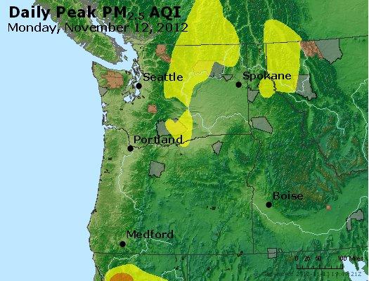 Peak Particles PM<sub>2.5</sub> (24-hour) - http://files.airnowtech.org/airnow/2012/20121112/peak_pm25_wa_or.jpg