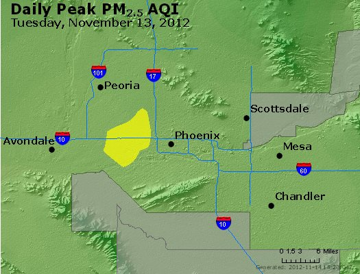 Peak Particles PM<sub>2.5</sub> (24-hour) - http://files.airnowtech.org/airnow/2012/20121113/peak_pm25_phoenix_az.jpg
