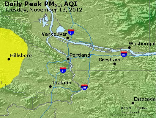 Peak Particles PM<sub>2.5</sub> (24-hour) - http://files.airnowtech.org/airnow/2012/20121113/peak_pm25_portland_or.jpg