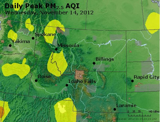 Peak Particles PM<sub>2.5</sub> (24-hour) - http://files.airnowtech.org/airnow/2012/20121114/peak_pm25_mt_id_wy.jpg