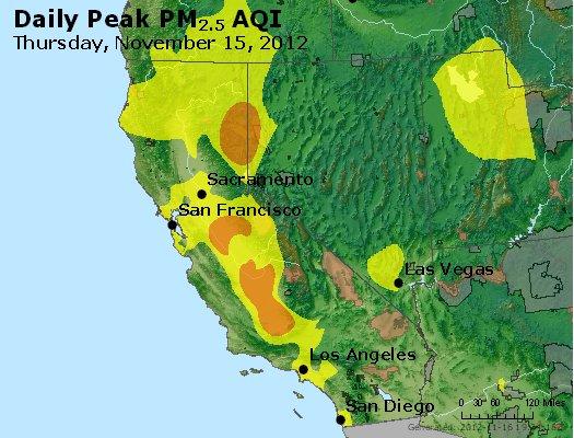 Peak Particles PM<sub>2.5</sub> (24-hour) - http://files.airnowtech.org/airnow/2012/20121115/peak_pm25_ca_nv.jpg