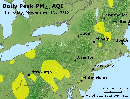 Peak Particles PM<sub>2.5</sub> (24-hour) - http://files.airnowtech.org/airnow/2012/20121115/peak_pm25_ny_pa_nj.jpg
