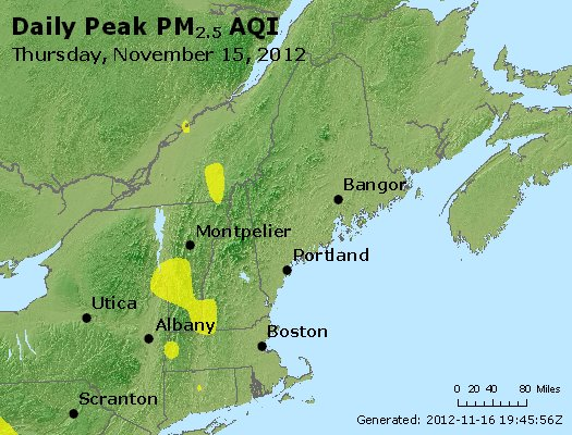 Peak Particles PM<sub>2.5</sub> (24-hour) - http://files.airnowtech.org/airnow/2012/20121115/peak_pm25_vt_nh_ma_ct_ri_me.jpg