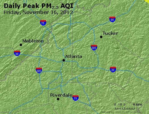 Peak Particles PM<sub>2.5</sub> (24-hour) - http://files.airnowtech.org/airnow/2012/20121116/peak_pm25_atlanta_ga.jpg