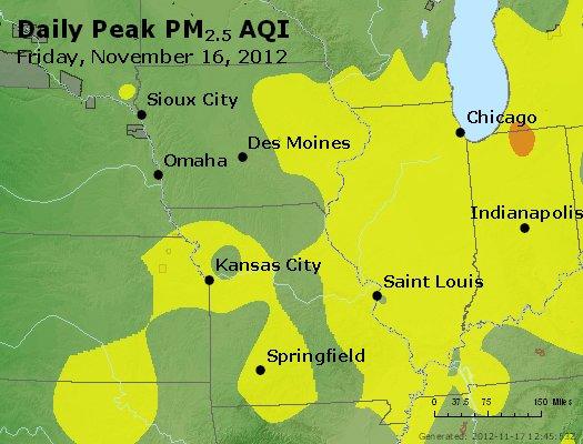 Peak Particles PM<sub>2.5</sub> (24-hour) - http://files.airnowtech.org/airnow/2012/20121116/peak_pm25_ia_il_mo.jpg