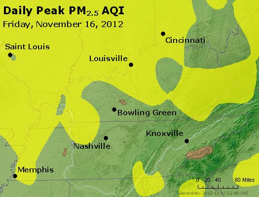 Peak Particles PM<sub>2.5</sub> (24-hour) - http://files.airnowtech.org/airnow/2012/20121116/peak_pm25_ky_tn.jpg