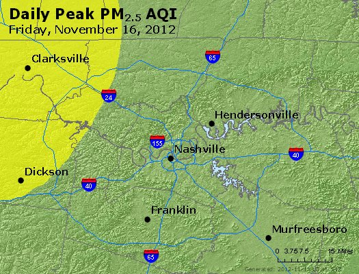 Peak Particles PM<sub>2.5</sub> (24-hour) - http://files.airnowtech.org/airnow/2012/20121116/peak_pm25_nashville_tn.jpg