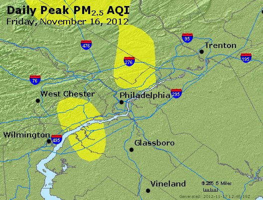 Peak Particles PM<sub>2.5</sub> (24-hour) - http://files.airnowtech.org/airnow/2012/20121116/peak_pm25_philadelphia_pa.jpg